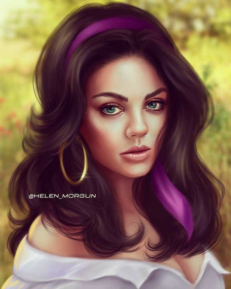 ilustraciones de actrices princesas disney