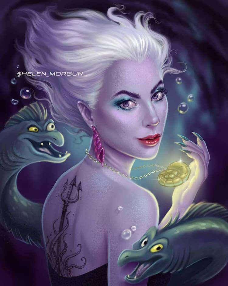 Lady Gaga as Disney Princess