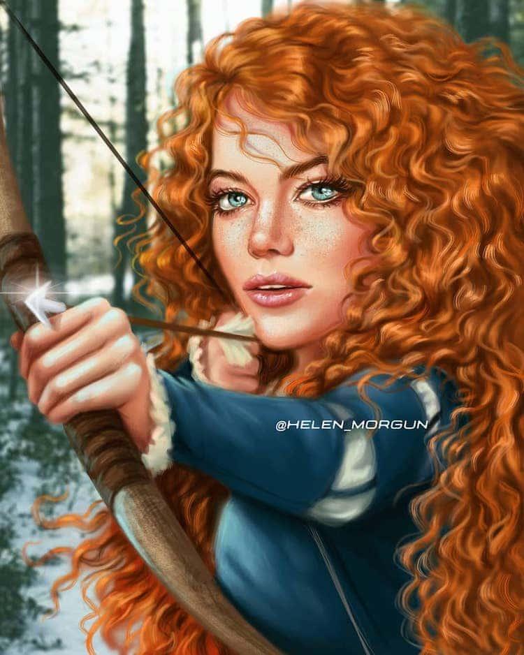 emma stone princesa disney