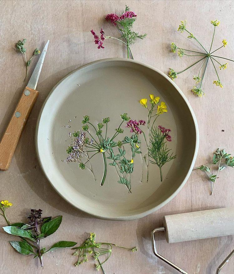 Flower-Pressed Ceramics by Hessa Al Ajmani