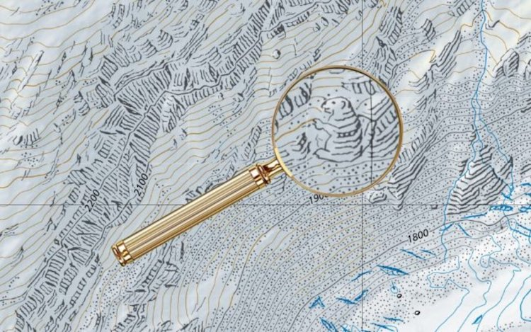 dibujos ocultos en los mapas de suiza