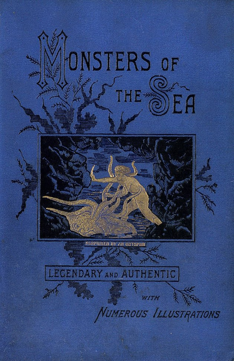 a man battles a tentacled sea monster on the cover of a book