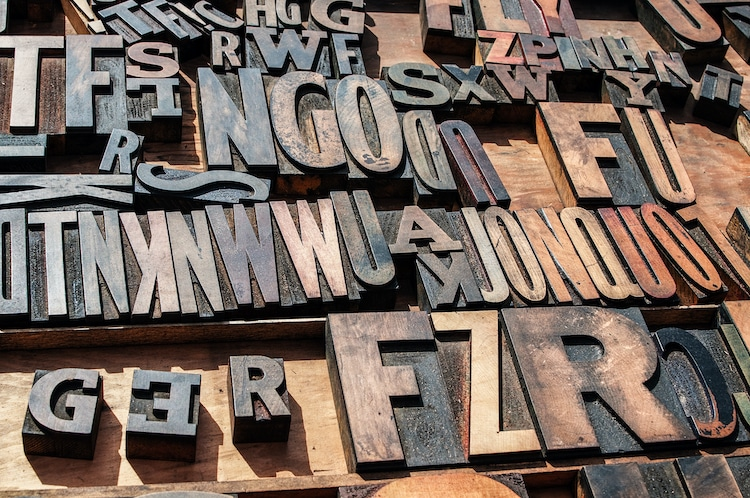 Block Letters for Printing Press