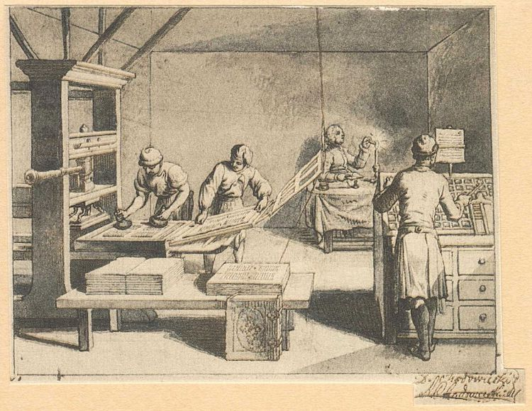 Historical Image of Printing Press