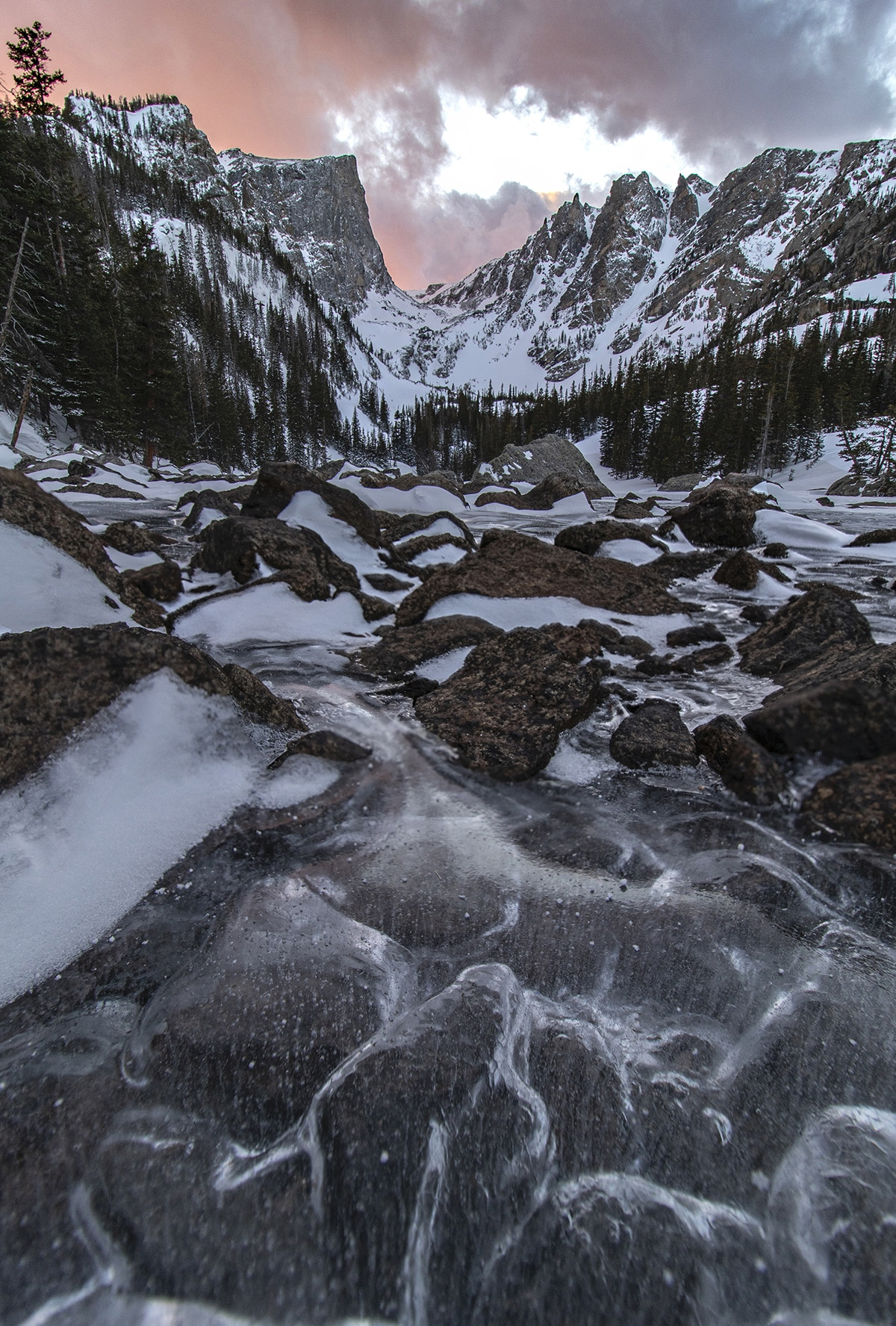 Icy Lake in Colorado