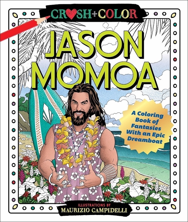 Libro para colorear de Jason Momoa de Maurizio Campidelli