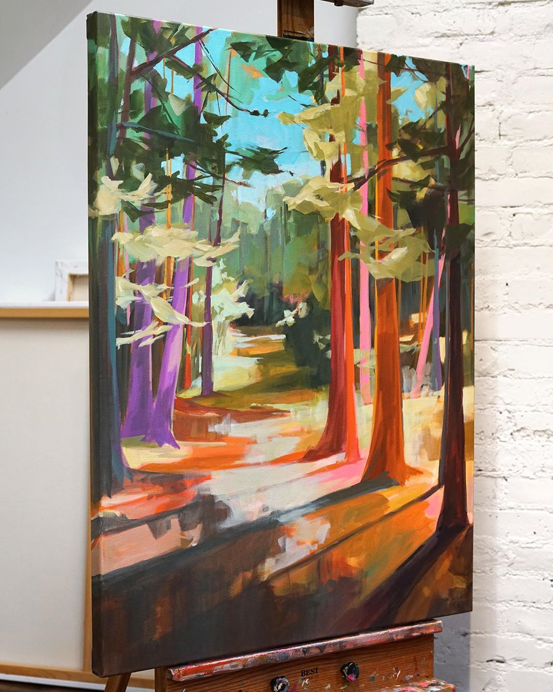Colorful Landscape Paintings by Jess Franks