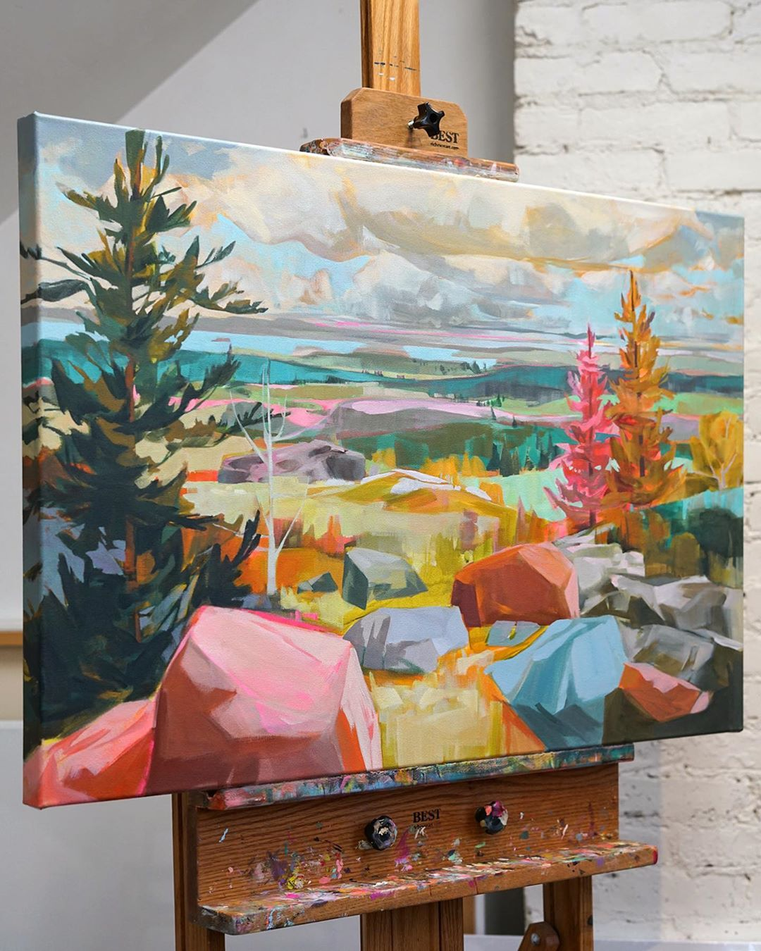 Contemporary Landscape Painting by Jess Franks