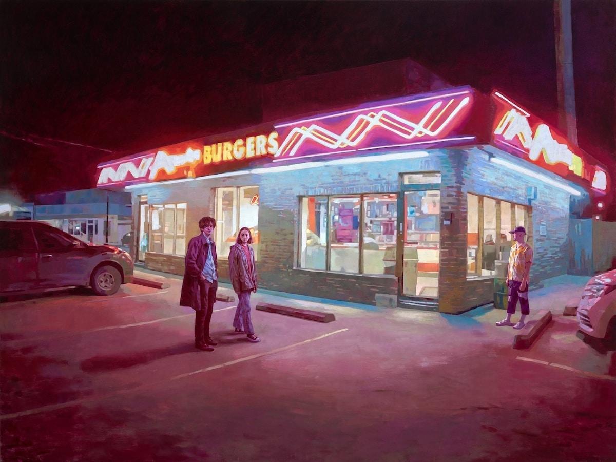 Pinturas de paisajes de noche de Keita Morimoto
