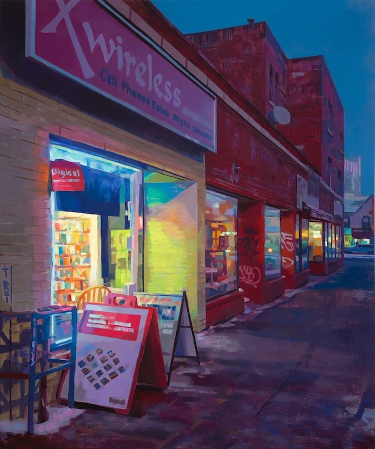 Pinturas de paisajes de noche