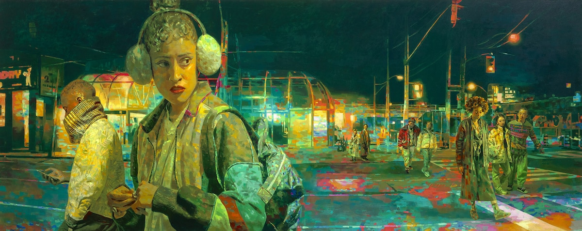 Pinturas de noche de Keita Morimoto