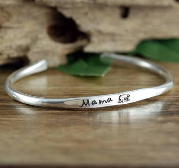 Mama Bear Cuff Bracelet