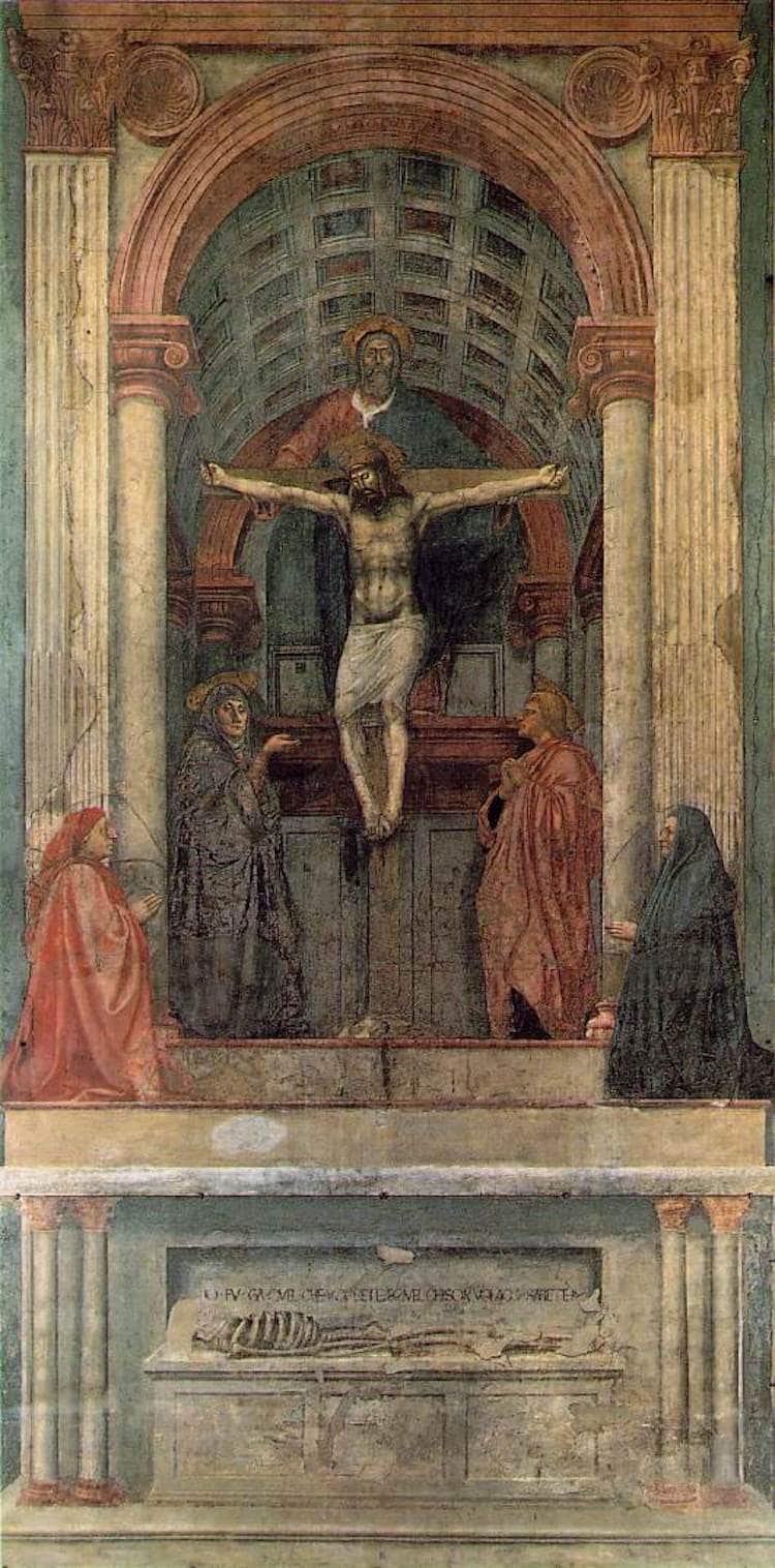 Pintura de la Trinidad de Masaccio
