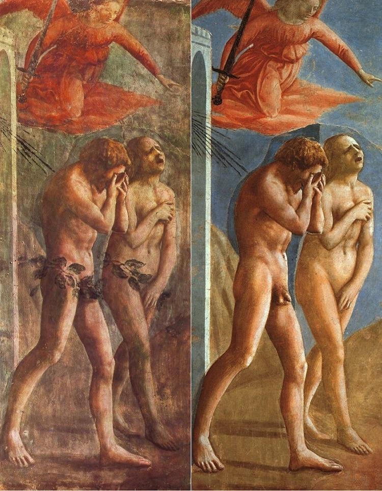La expulsión de Adán y Eva de Masaccio