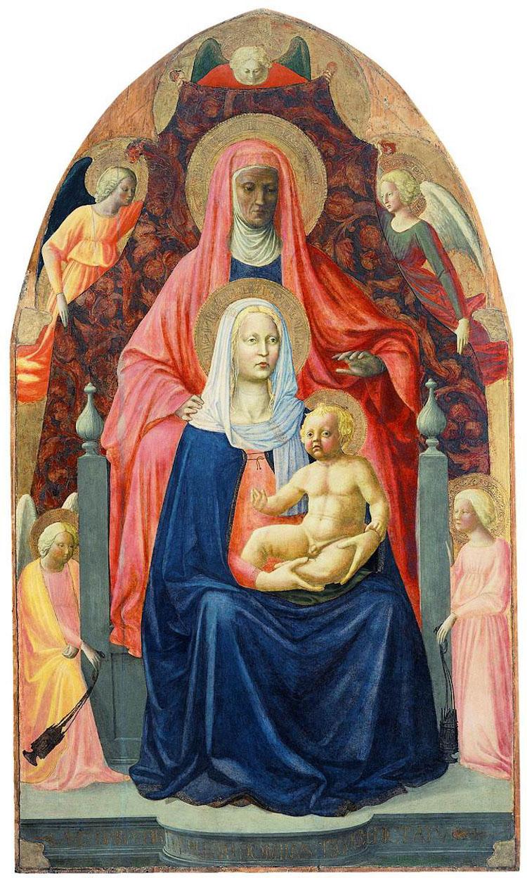 Virgen con el Niño y Santa Ana de Masaccio