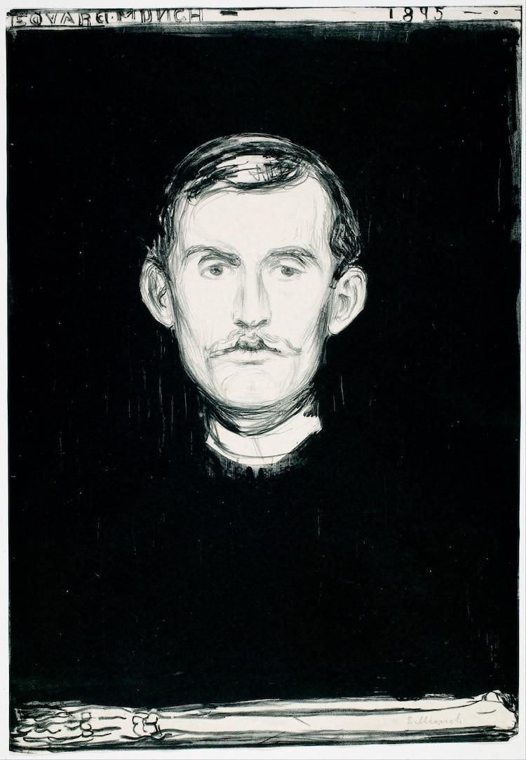 Self Portrait by Edvard Munch