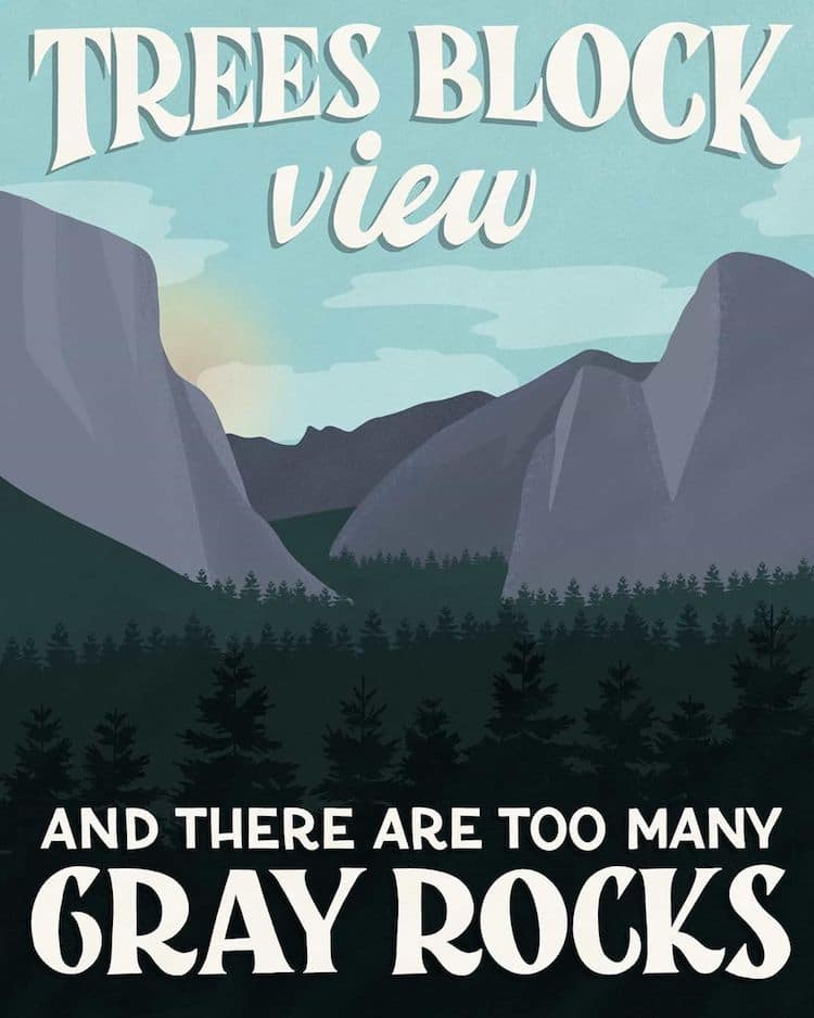 National Park Review Postcards by Amber Share
