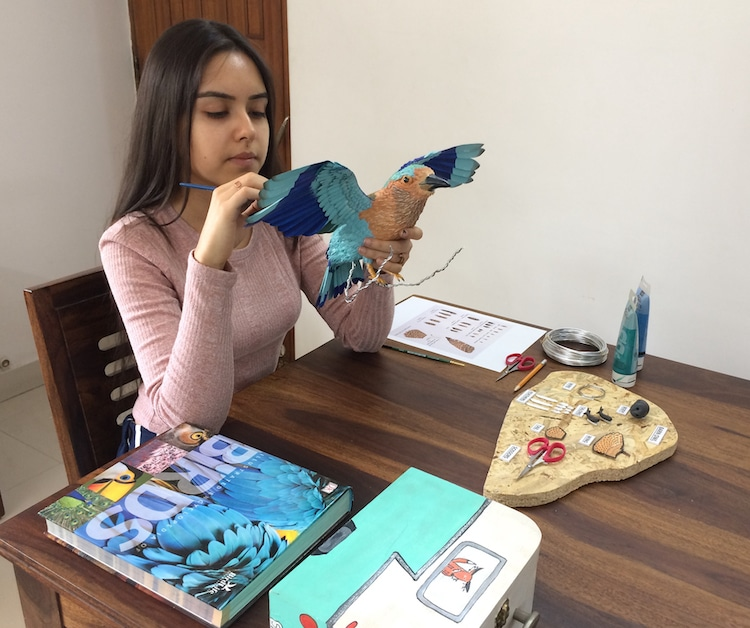 Niharika Rajput Bird Sculptures