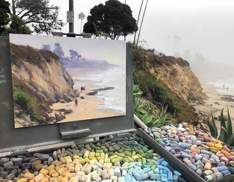 Pinturas a pastel por Aaron Schuerr