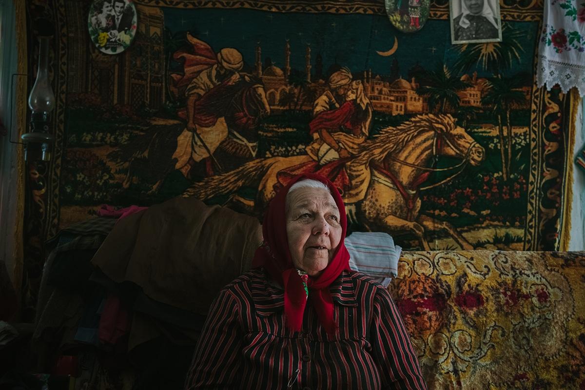 Elderly Woman Living in Chernobyl