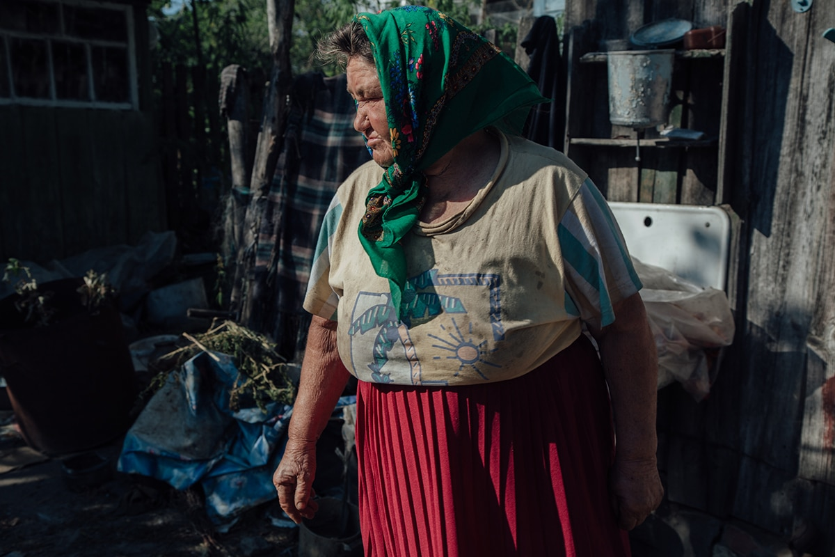 Portrait of Samosely Woman in Chernobyl