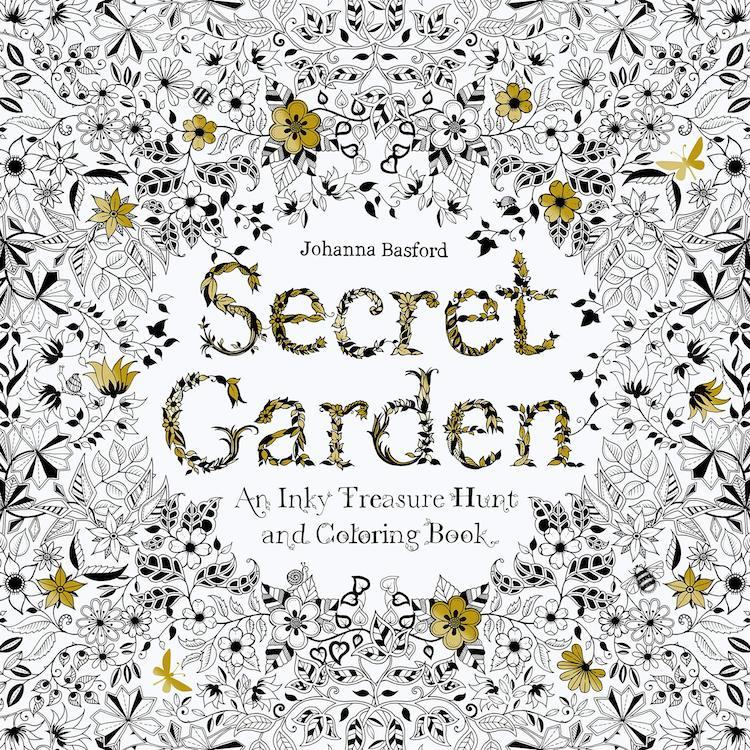 Libro para colorear Secret Garden de Johanna Basford