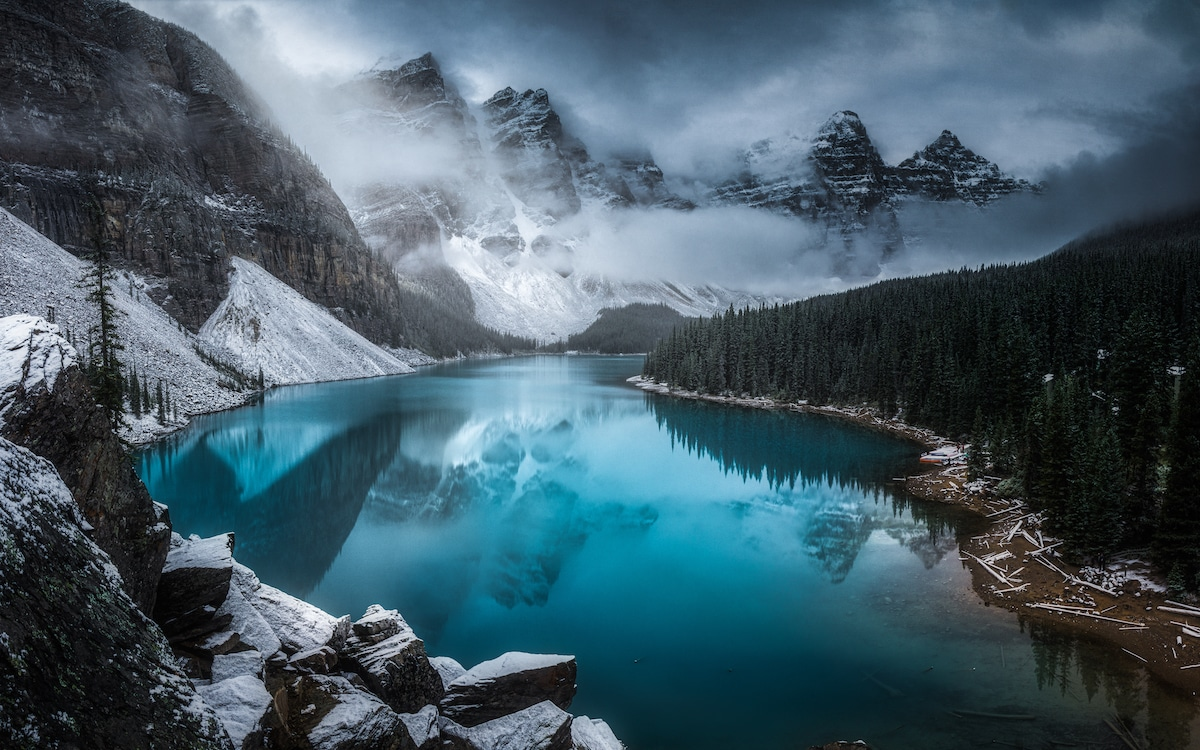 Moraine Lake in the Bannf National Park
