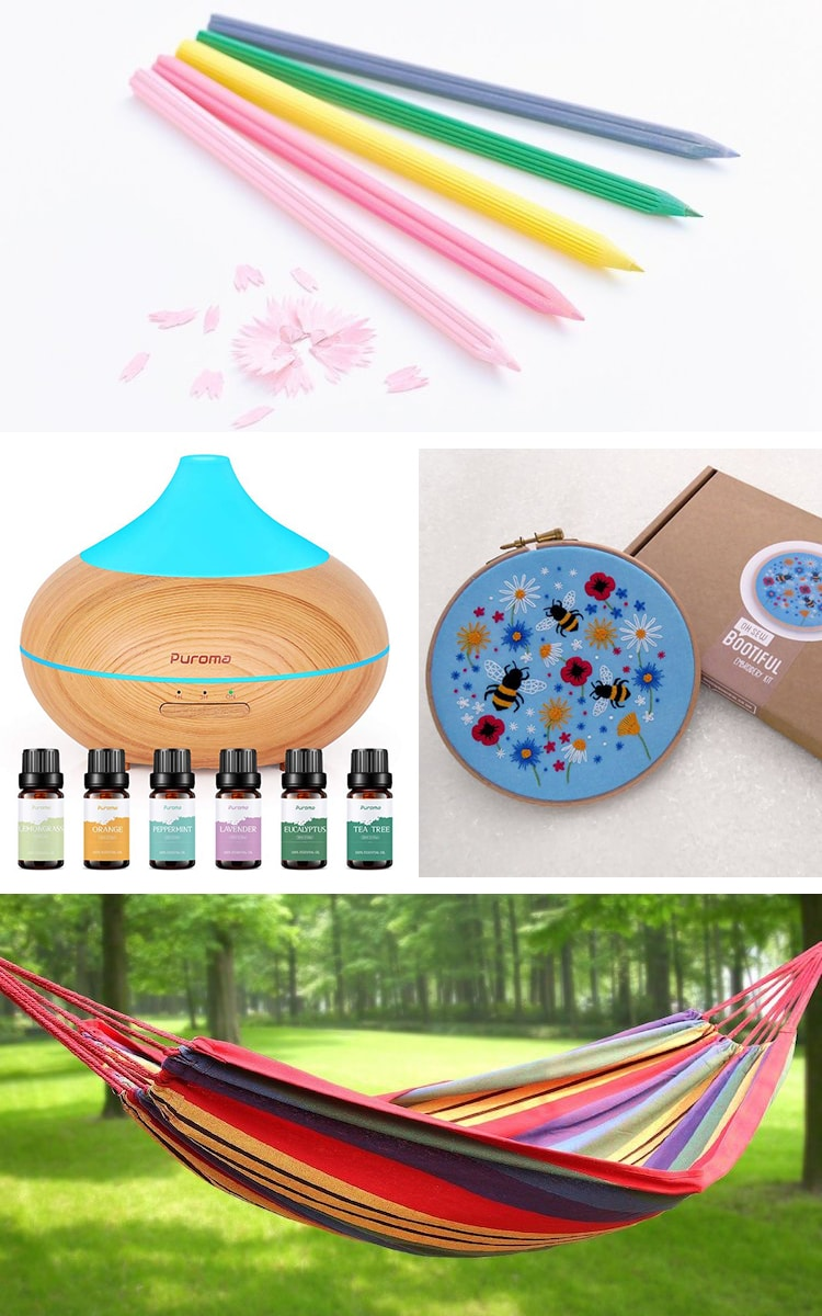 Collage of Different Relaxing Products