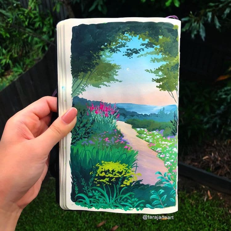 Sketchbook Paintings of Nature by Tara Jane