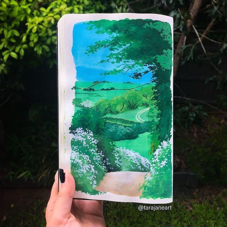 Sketchbook Paintings of Nature by Tara Jane