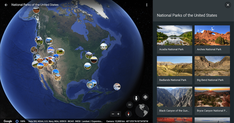 google arts and culture parques nacionales