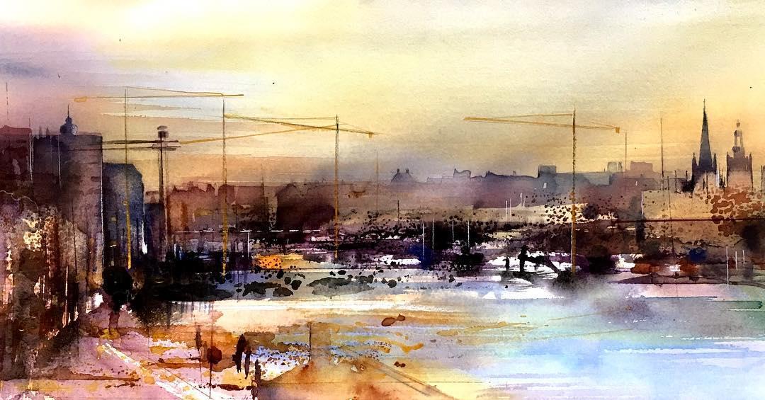 Watercolor Paintings by Gunnel Moheim