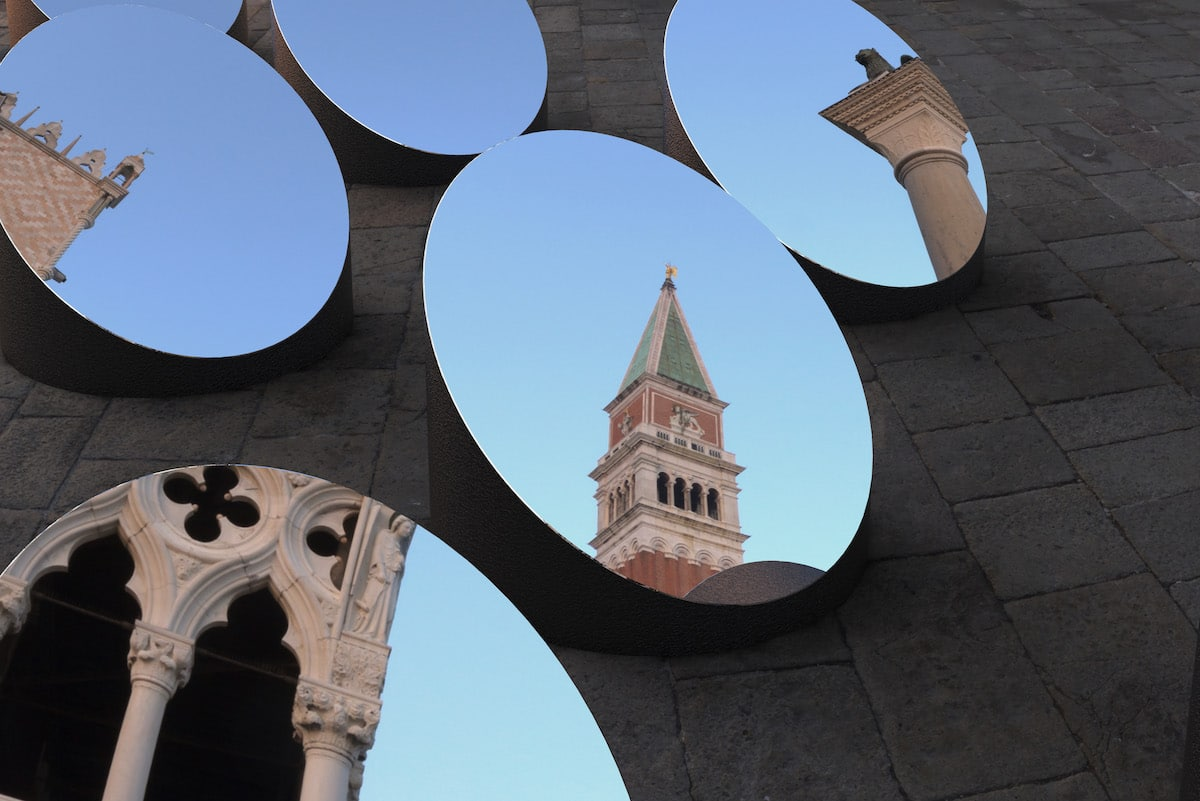 Venetian Monuments Reflected in Round Mirrors