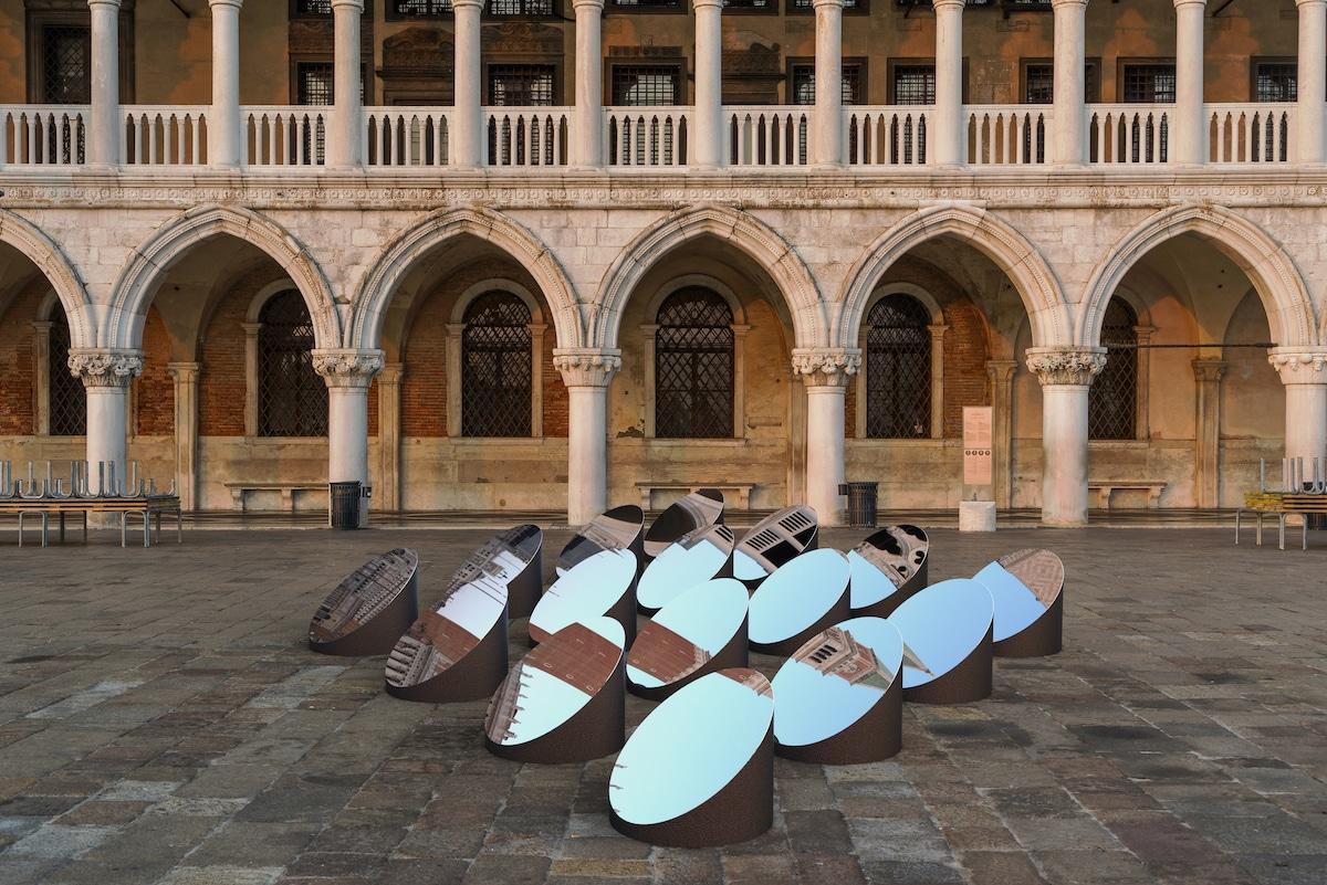 Mirror Art Installation in St. Mark's Square Venice