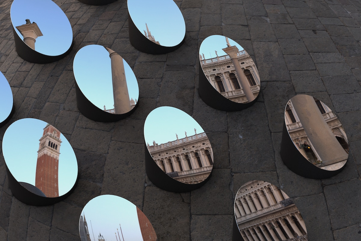 Doge's Palace Reflected in Round Mirrors