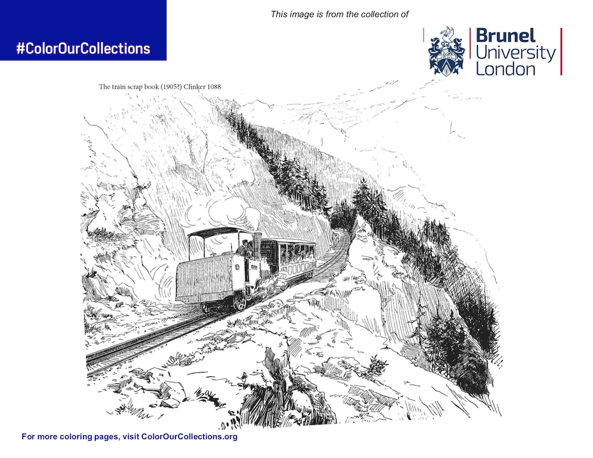 Free Coloring Page From Brunel University London