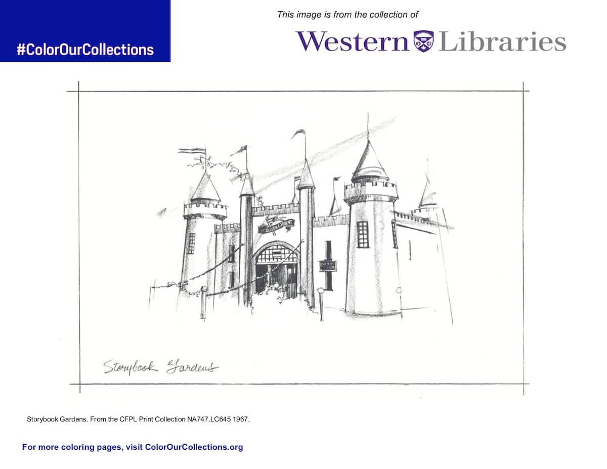 Free Coloring Page From Western University