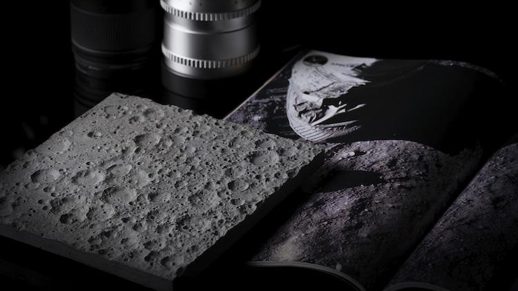 Accesorio para escritorio de la superficie lunar