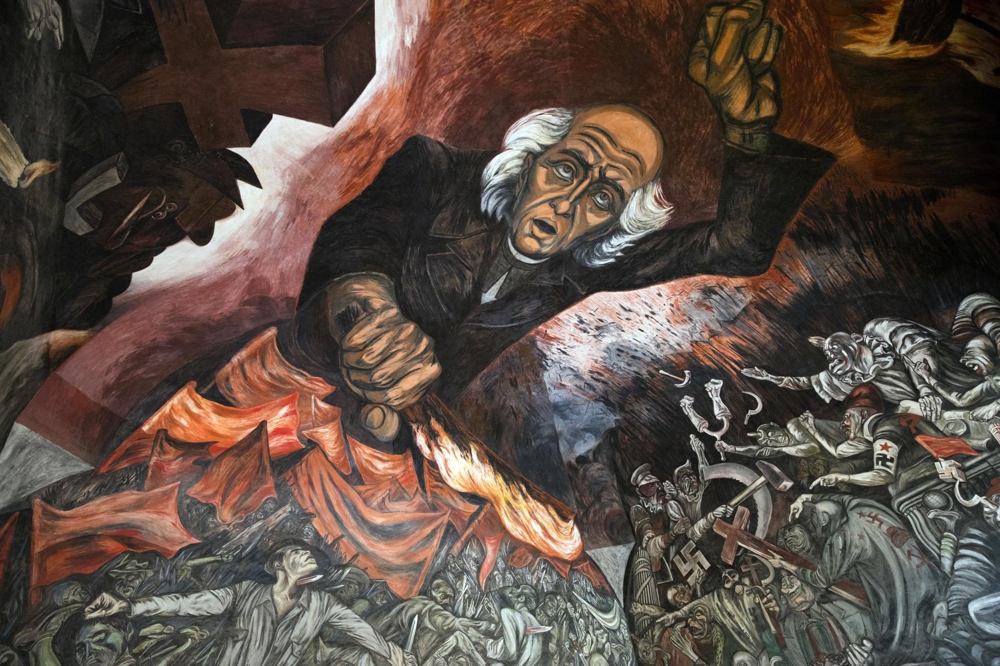 Mural de Miguel Hidalgo de José Clemente Orozco