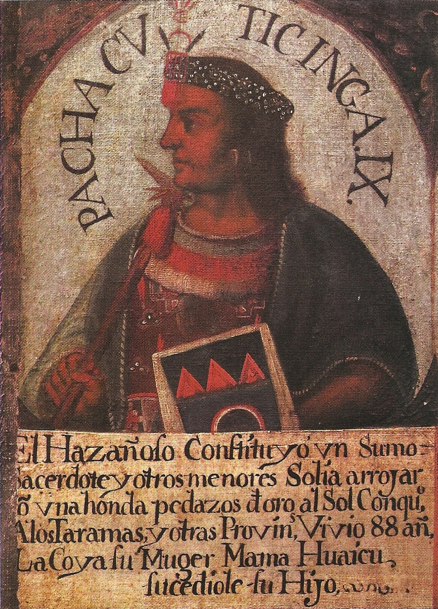 Retrato de Pachacútec.