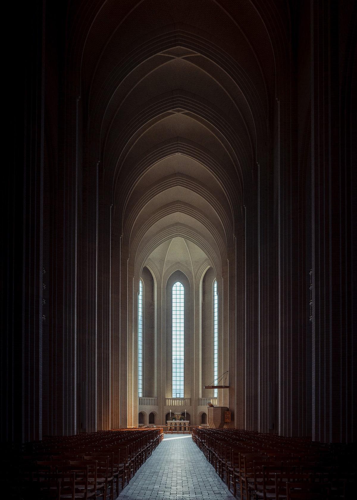 Interior of Grundtvigs Kirke in Denmark