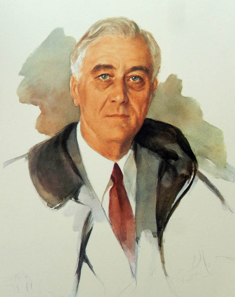 Unfinished Portrait of FDR by Elizabeth Shoumatoff