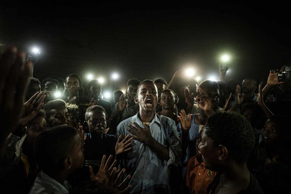 Protesters in the Sudan