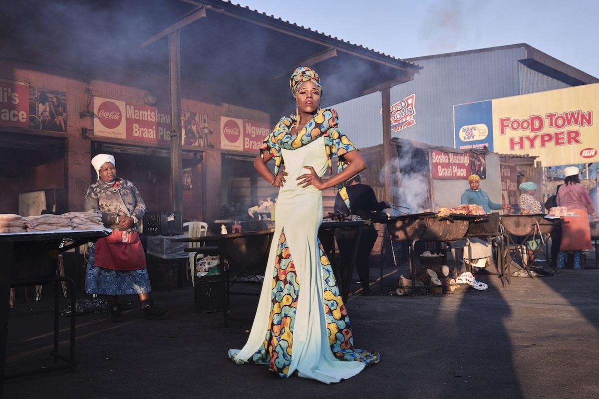 Belinda Qaqamba Ka-Fassie, a drag artist and activist, poses at a shisanyama in South Africa