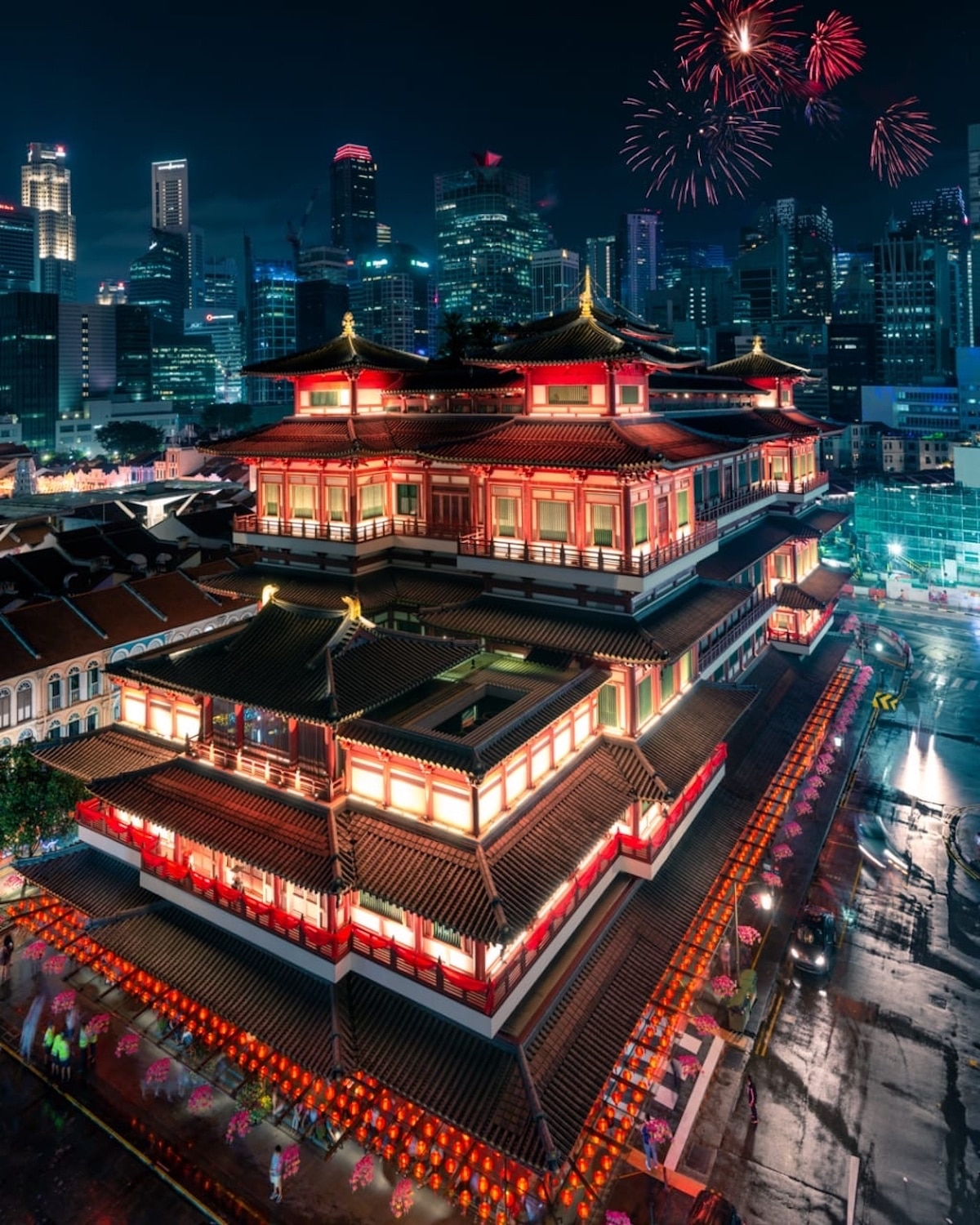 Buddha Tooth Relic Temple in Singapore During Chinese New Year
