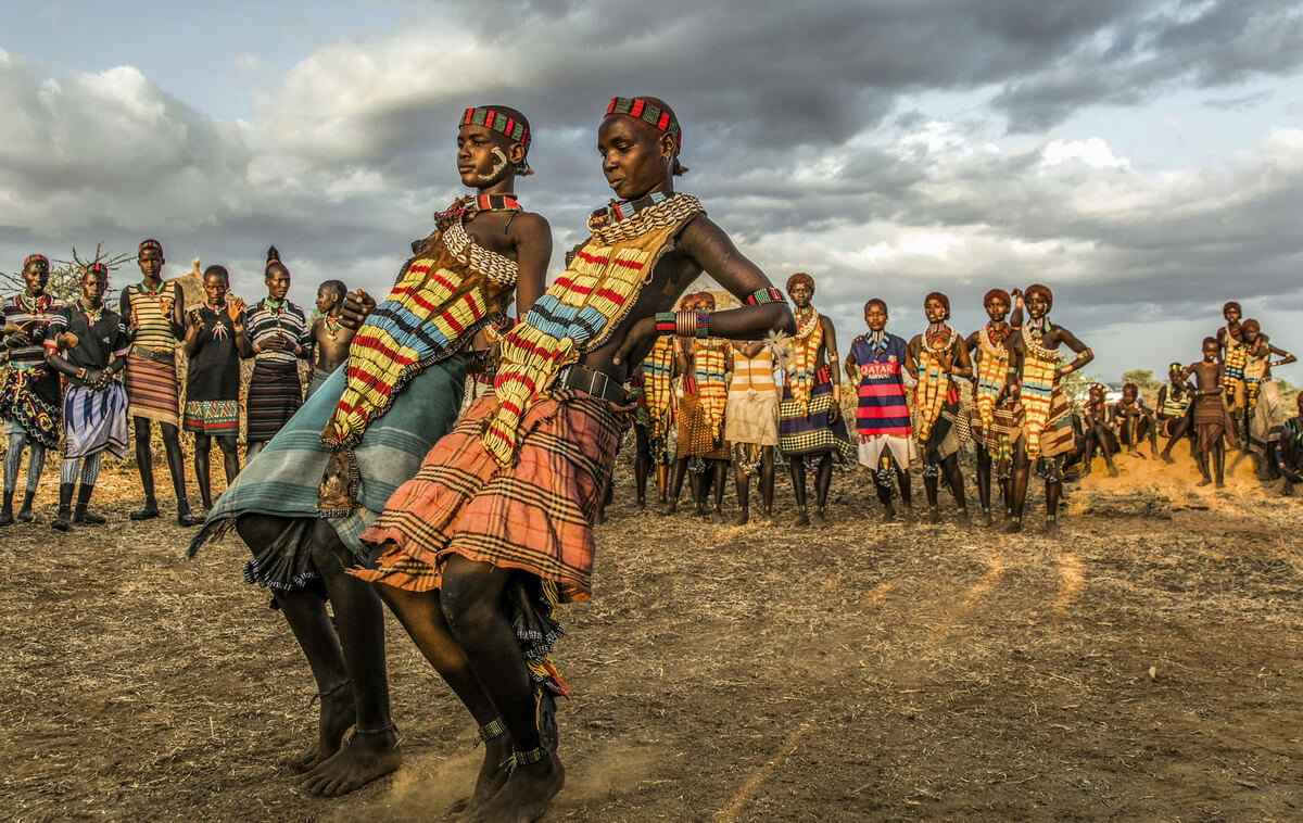 Men Doing Tribal Dance in Africa