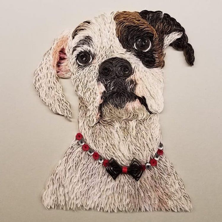 Paper Quilling Art by Amy Crain