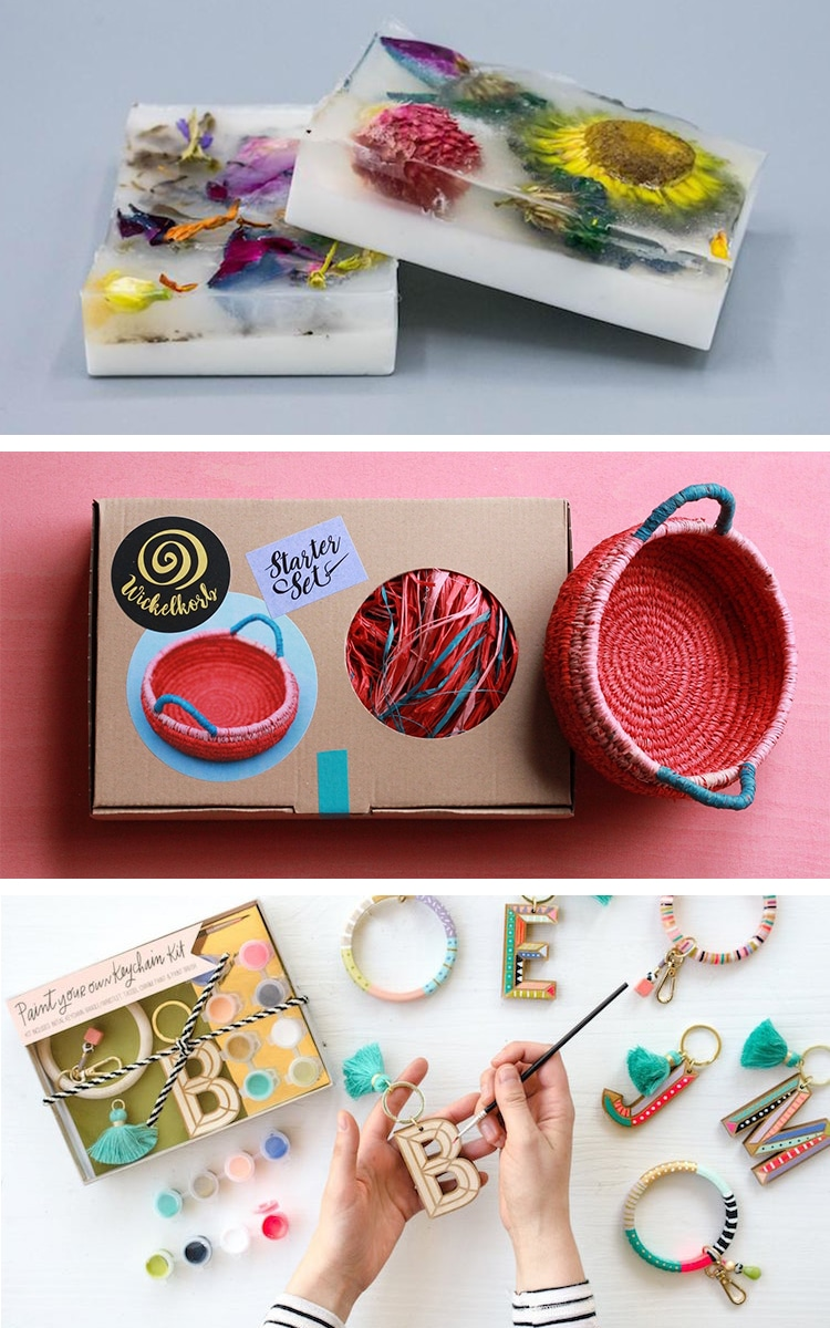 Collage of Art and Craft Kits