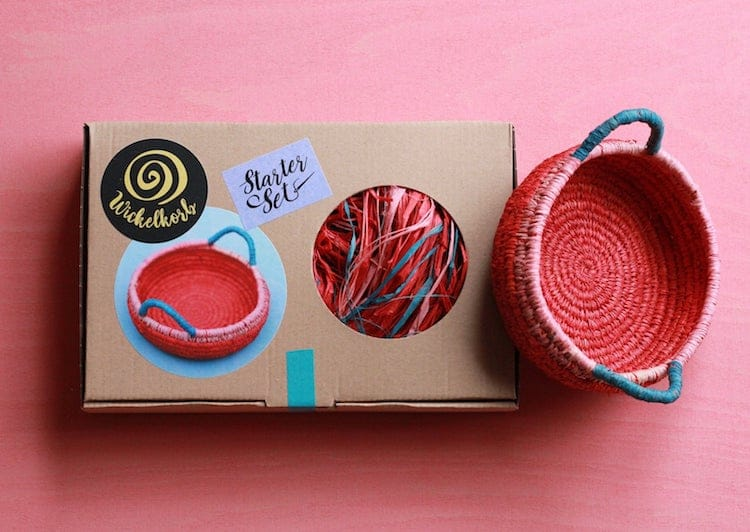 Basket Weaving Kit by Felt Moon Studio