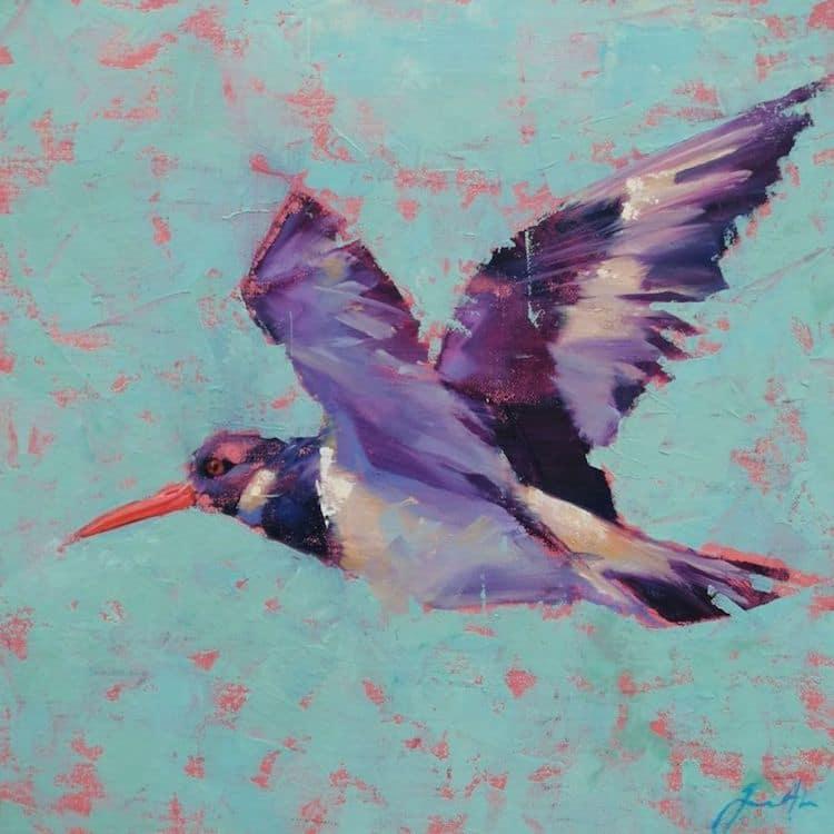 pinturas de aves de colores por Jamel Akib